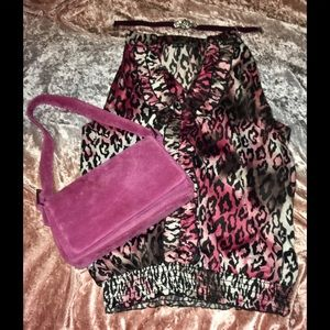 Sultry Ombré Leopard shirt by My Michelle! Med EUC